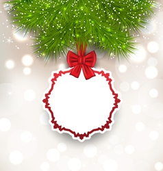 Glowing background with christmas card vector
