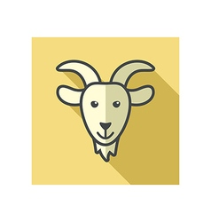 Goat icon Farm animal vector image vector image