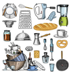 grater and whisk frying pan turk for coffee cup vector image vector image