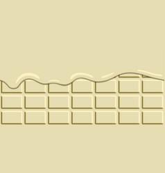 horizontal seamless melted chocolate bar vector image