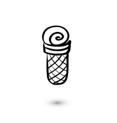 Ice cream icon on white background Doodle style vector image
