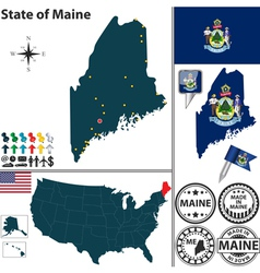 Map of maine vector