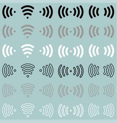 Radio waves wireless radio signal icon radio vector