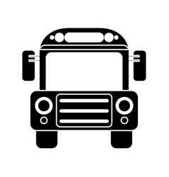 School bus transport design pictogram vector