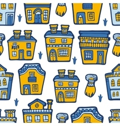 Seamless pattern with typical portuguese houses vector image vector image