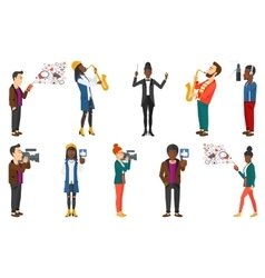 Set of media people and musicians vector