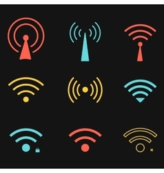 Set of wifi icons for business or commercial use vector image