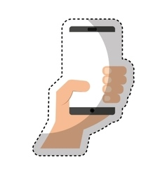 smartphone technology line icon vector image