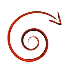 Spiral arrow vector