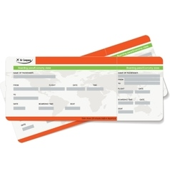 Template of a boarding pass or air ticket vector