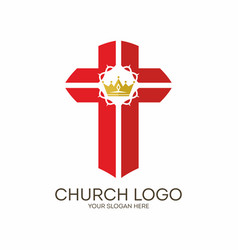 The cross of jesus and crown of thorns vector