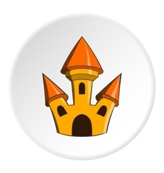 Toy castle icon cartoon style vector
