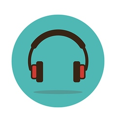 Headphone icon Musical sign vector image