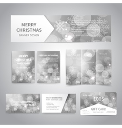 Merry Christmas Banners vector image