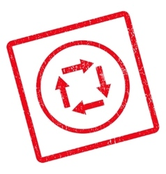 Circulation arrows icon rubber stamp vector