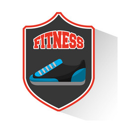 tennis shoes fitness icon vector image