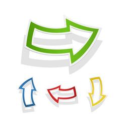 Coloured arrows pointers vector