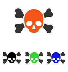 Skull and bones flat icon vector
