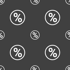 Percentage discount icon sign seamless pattern on vector