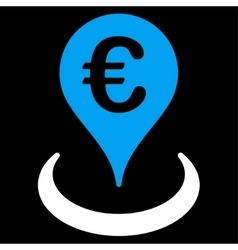 Location icon from bicolor euro banking set vector