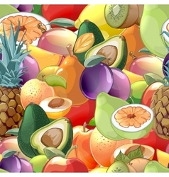 Cocktail fruits and berries seamless pattern vector