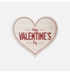Realistic valentines day greeting heart label vector