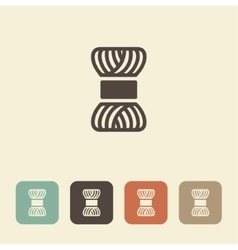 Skein of yarn for knitting icon vector