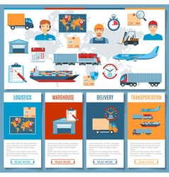 Logistic and transportation concepts vector