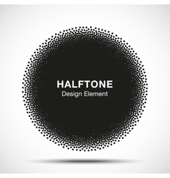 Abstract Halftone Dots Circle vector image vector image