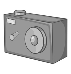 Action camera icon black monochrome style vector