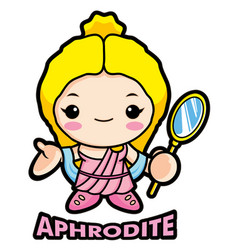 aphrodite mascot the goddess of beauty venus vector image