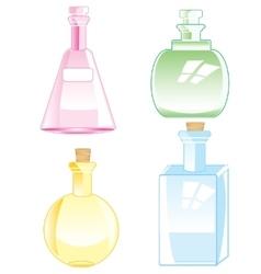 Bottles from glass vector