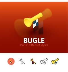 Bugle icon in different style vector