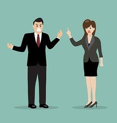 Business people having a quarrel vector