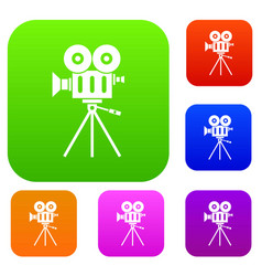 Camcorder set collection vector