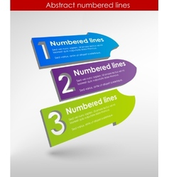 color chat boxes in three steps vector image