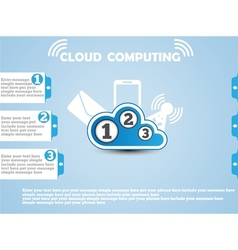 COULD COMPUTING WEBSITE BLUE vector image