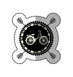 Emblem bicycle city icon vector