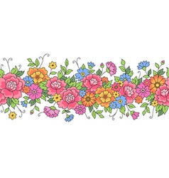 floral design border vector image vector image