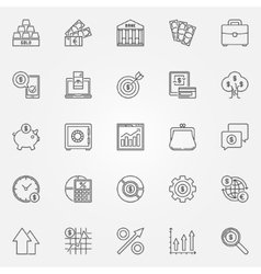 Investment icons set vector image vector image