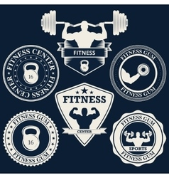 logos fitness center vector image