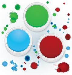 Paint jars vector image vector image
