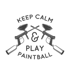 Paintball logo template paintballing poster vector