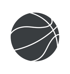 silhouette basket ball sport symbol icon vector image