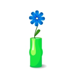 Single flower in vase vector image