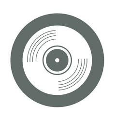 Vinyl round icon vector