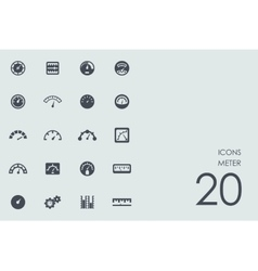 Set of meter icons vector