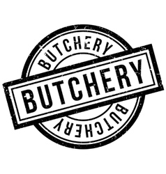 Butchery rubber stamp vector