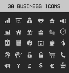Light business design element icon set vector image