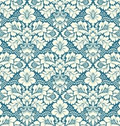 seamless floral damask pattern vector image